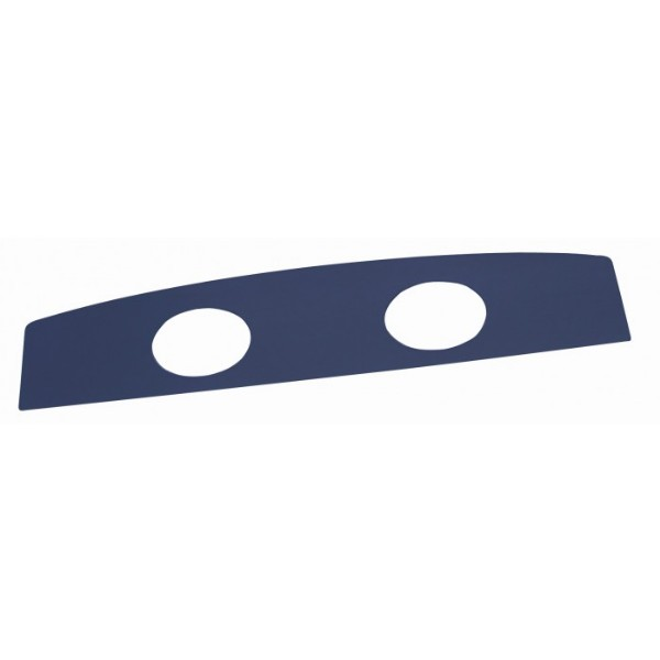 67-68 COUPE UPHOLSTERED PACKAGE TRAY W/SPEAKER HOLES - DK BLUE