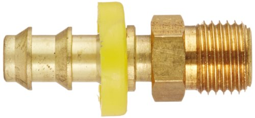 "5/16"" BRASS TUBE - INVERTED MALE SWIVEL HOSE FITTING - 3/8"" ID"