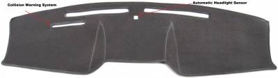 15-18 FRONT DASH CARE COVER - DASH TECH BLACK