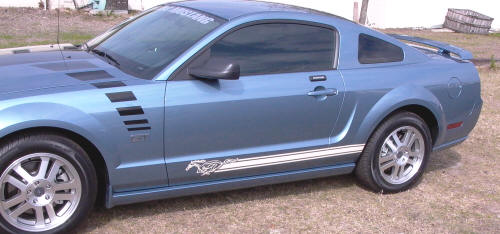 05-13 MUSTANG PONY ROCKER SIDE STRIPE - WHITE (DOES BOTH SIDES)