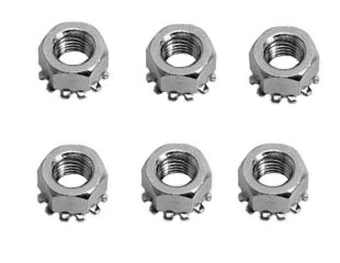 65-66 FINE THREAD SHOCK TOWER NUTS - 6 PCS