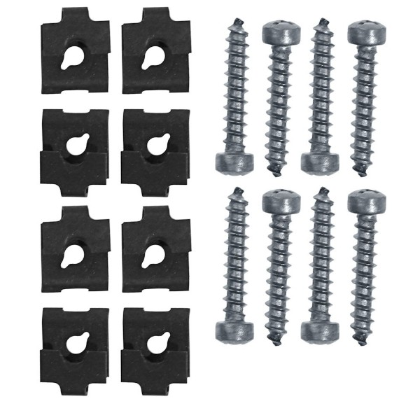 65-66 HEADLIGHT DOOR SCREWS AND NUTS - 16 PCS