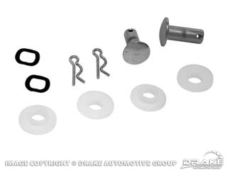 64-68 CONVERTIBLE TOP CHROME CLEVIS PIN KIT