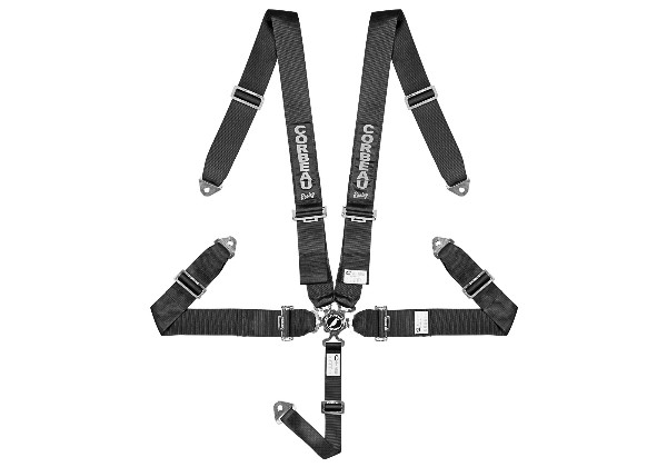 "5 - POINT 3"" CAM LOCK BOLT-IN HARNESS BELT - BLACK"