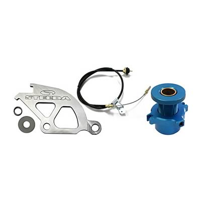96-04 STEEDA ADJUSTABLE CLUTCH CABLE WITH ALUMINUM QUADRANT KIT