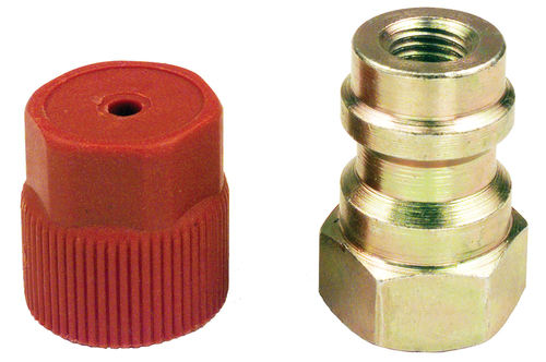 "134A FITTING - HIGH SIDE 1/4"" 7/16-20 "" x 16mm STRIAGHT RETROFIT"