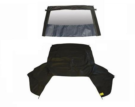 83-90 CONVERTIBLE TOP WITH NON HEATED GLASS WINDOW - BLACK
