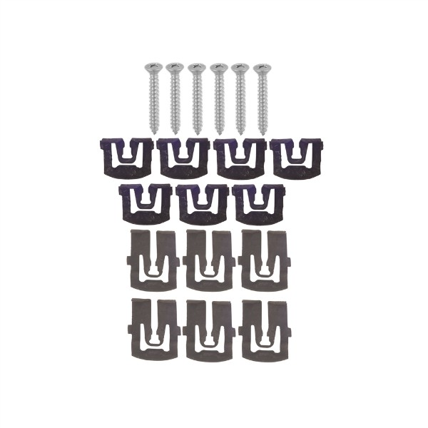 67-68 COUPE REAR WINDOW MOLDING CLIP AND SCREW KIT - 19 PCS