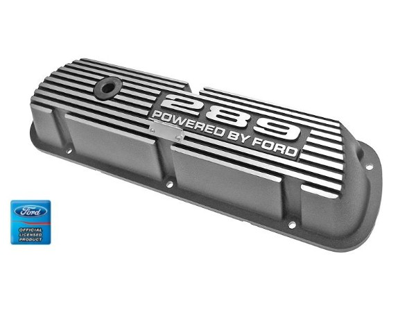 ALUMINUM VALVE COVERS- BLACK - 289 PBF