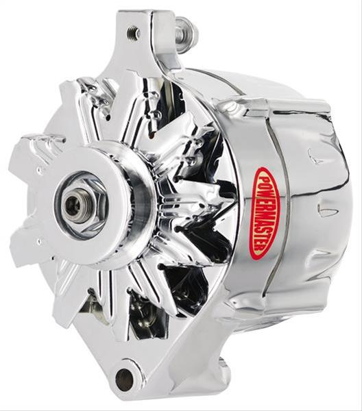 CHROME PLATED 12V ALTERNATOR WITH V-BELT- 100/70A