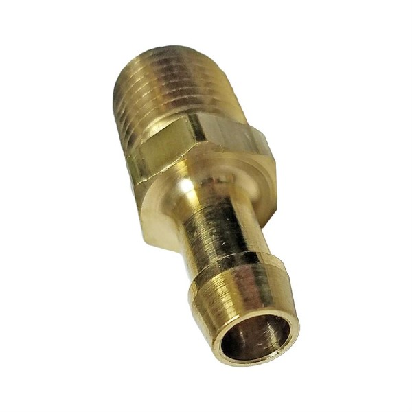 "EDELMANN CLAMP-STYLE 3/8"" NPT MALE THREAD TO 3/8"" HOSE BARB"