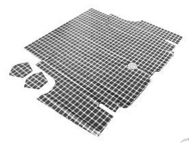 67-68 REPLACEMENT TRUNK MAT CP/CV - PLAID