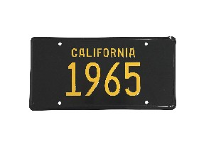 65 CALIFORNIA LICENSE PLATE