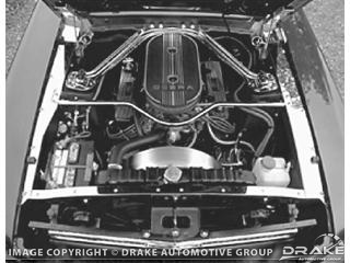 65-66 STAINLESS STEEL TRIM KIT - ENGINE COMPARTMENT
