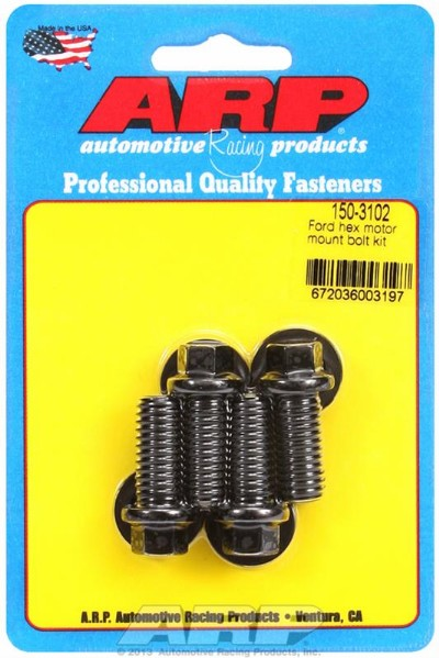 63-01 MOTOR MOUNT BOLTS, BLACK OXIDE, HEX, MOUNT TO BLOCK, FORD,