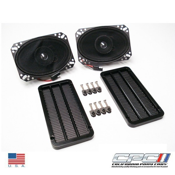 1966 4X6 SPEAKER & GRILLE KIT DELUXE STYLE WITH CORRECT SCREEN P