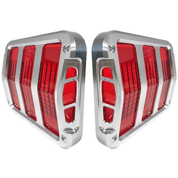 64-66 BILLET TAIL LIGHT BEZELS - SIDEWINDER (TM)