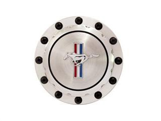 64-73 BILLET FUEL GAS CAP WITH HORSE EMBLEM