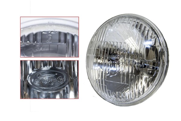 "5-3/4"" HI/LO BEAM ROUND HALOGEN SEALED BEAM HEADLIGHT W/FOMOCO"