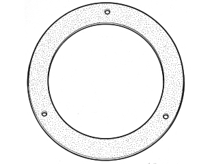 65-68 LH AIR VENT OUTLET GASKET