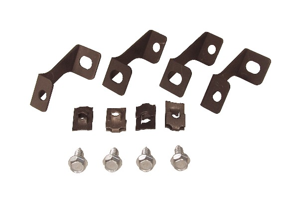 65-66 2 ROW FAN SHROUD BRACKETS INSTALL KIT - 12 PCS