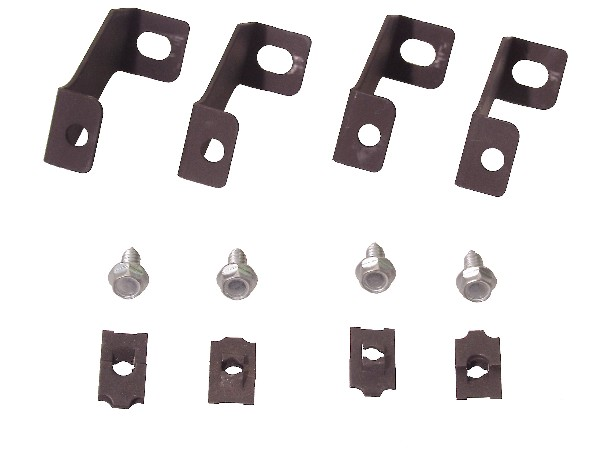 65-66 3 ROW FAN SHROUD BRACKETS INSTALL KIT