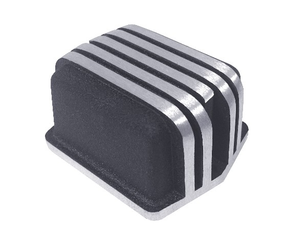 65-73 VOLTAGE REGULATOR COVER - BLACK / ALUMINUM