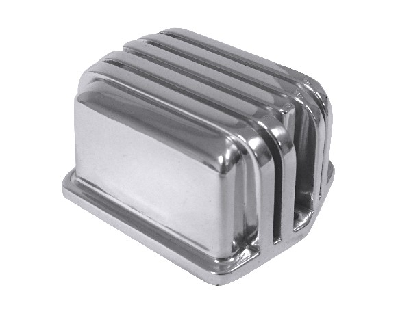 65-73 VOLTAGE REGULATOR COVER - POLISHED ALUMINUM