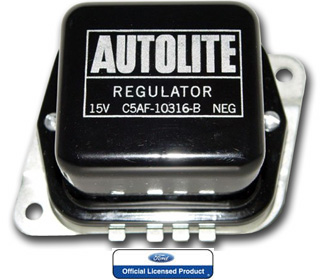 65-67 NON A/C VOLTAGE REGULATOR - BLACK & SILVER
