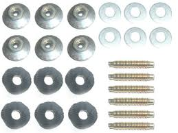 65-66 QUARTER EXTENSION FASTENERS AND STUDS - 24 PCS