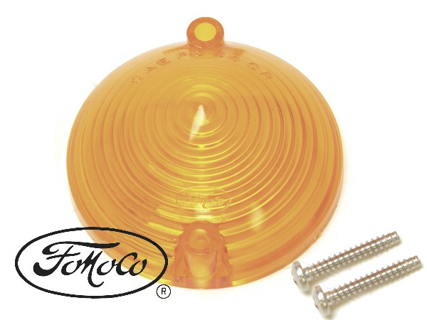 65-66 AMBER LENS PARKING LIGHT- W/FOMOCO
