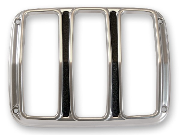 64-66 SATIN TAIL LIGHT BEZELS - PAIR