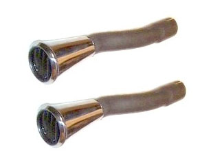 65-66 GT RH AND LH TAILPIPE EXHAUST TRUMPET TIPS - PAIR