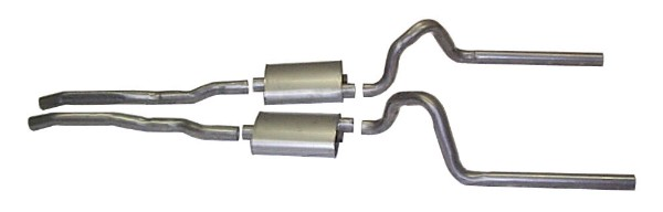"65-66 DUAL EXHAUST KIT - 2"" - NO RESONATORS"