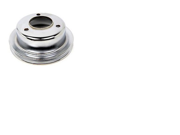 LOWER CRANK PULLEY - 1 GROOVE CHROME