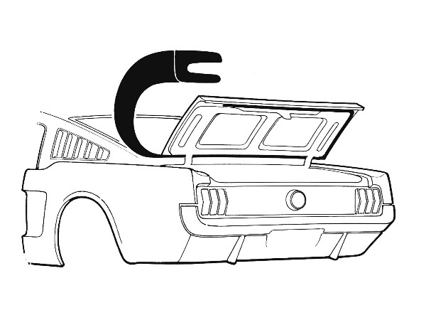 65-66 FASTBACK TRUNK WEATHERSTRIP