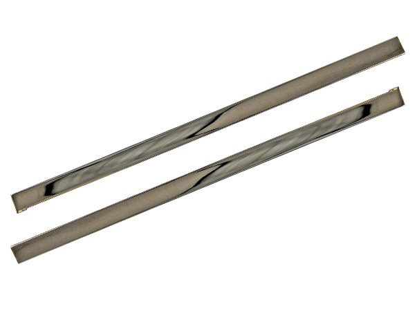 65-66 PONY STAINLESS STEEL KICK PANEL TRIM - PAIR