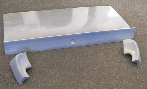 1965 - 1966 Ford Coupe Fiberglass Spoiler Trunk & Extensions.