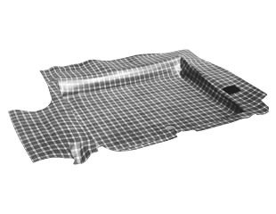 65-68 COUPE & CONVERTIBLE ORIGINAL PLAID RUBBER TRUNK MAT