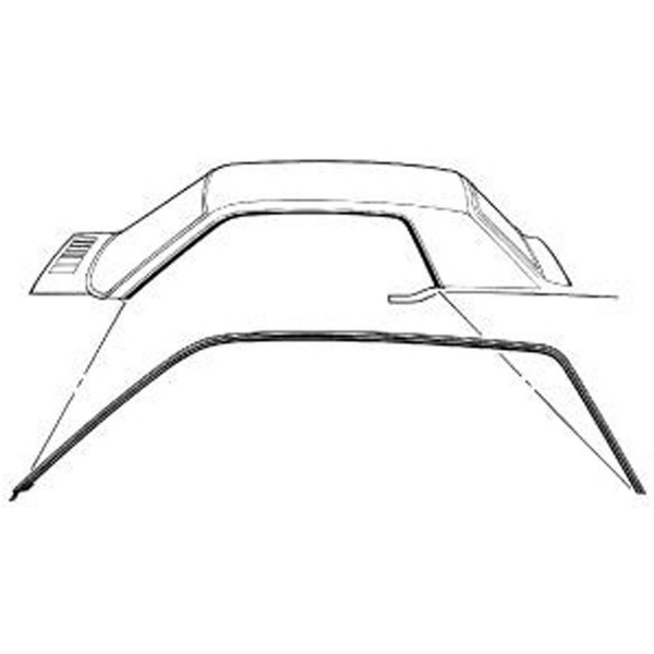 64-66 COUPE ROOF RAIL WEATHERSTRIP - FOREIGN MADE