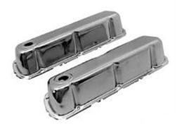 64-66 260-351W CHROME VALVE COVERS - AFTERMARKET