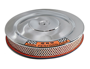 66-67 HI-PO CHROME WITH BLUE BASE AIR CLEANER