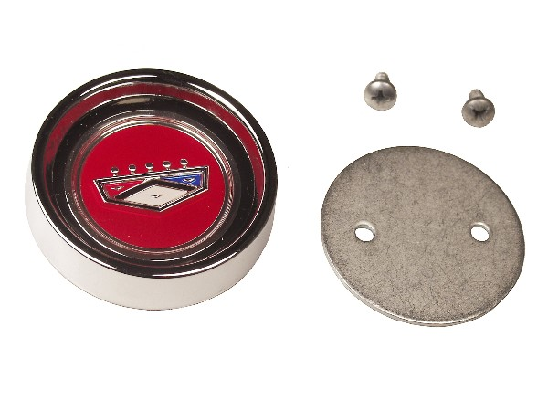 66 FALCON / FAIRLANE STYLE STEEL HUP CAP CENTER WITH FORD CREST