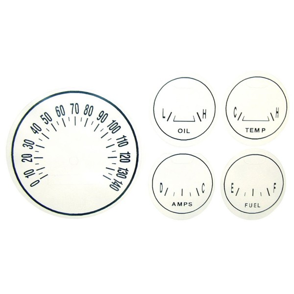 65-66 WHITE GAUGE FACE PLATE