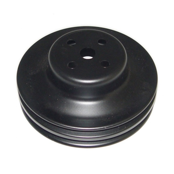 2 GROOVE WATER PUMP PULLEY WITH A/C - BLACK
