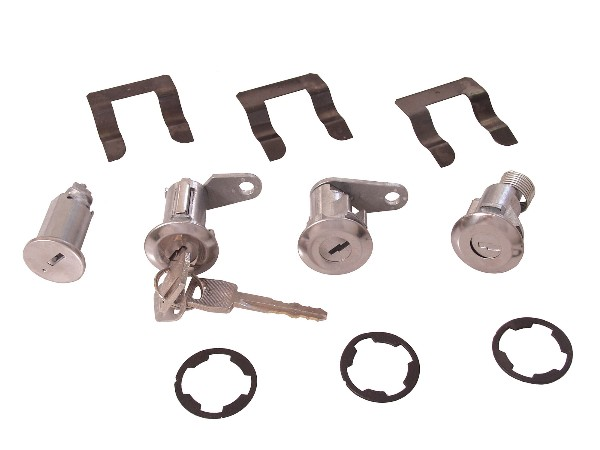 67-69 COMPLETE IGNITION, DOOR, AND TRUNK LOCK SET