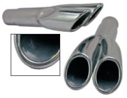 "67-69 2"" DUAL EXHAUST TIPS WITH ROLLED EDGES - PAIR"