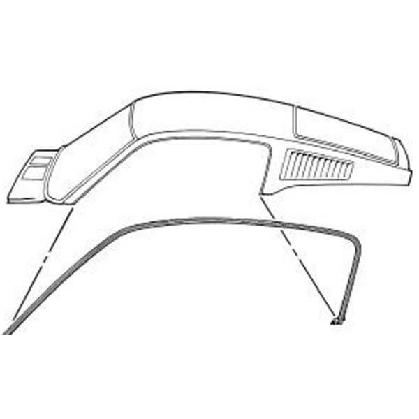 67-68 FASTBACK ROOF RAIL WEATHERSTRIP