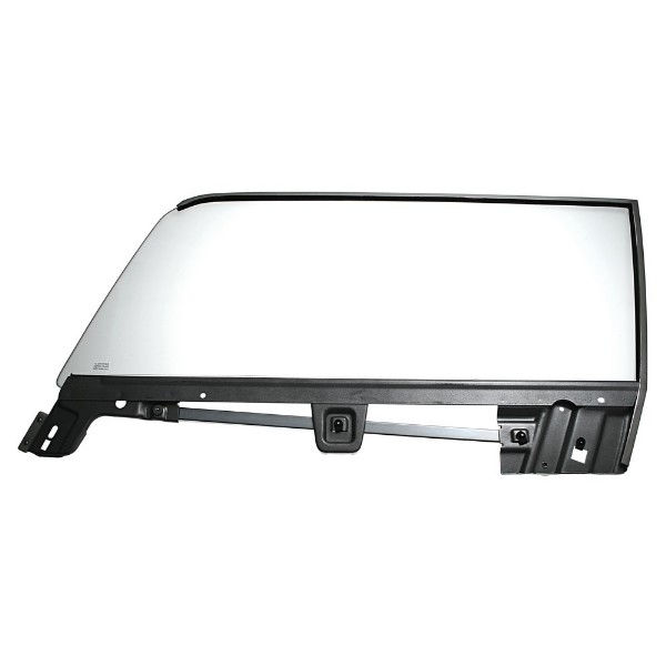 67-68 LH COUPE DOOR GLASS ASSEMBLY WITH FRAME - CLEAR
