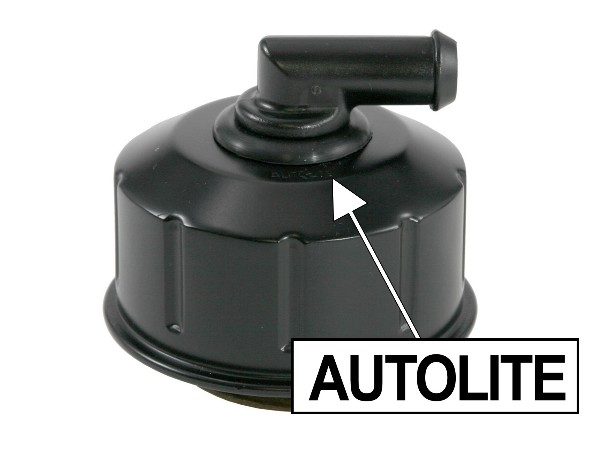 68-70 OIL BREATHER CAP - CLOSED EMISSION - BLACK